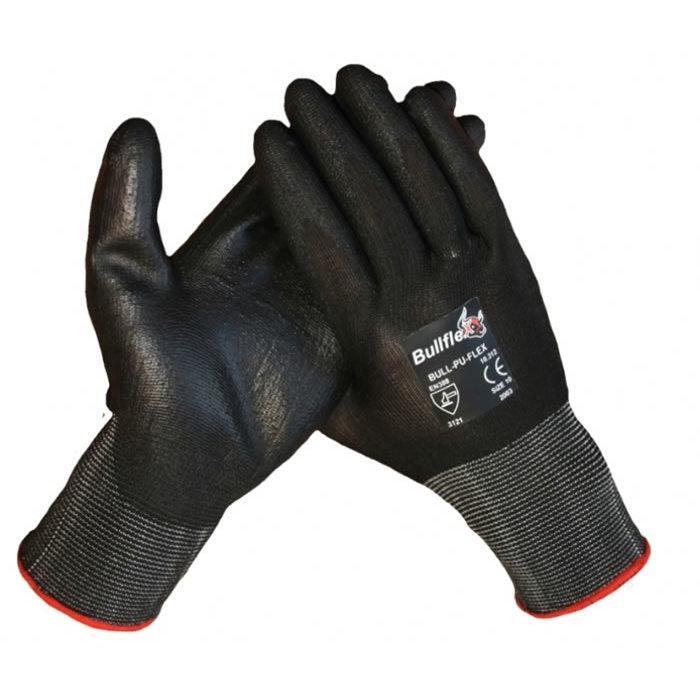 Bull Flex werkhandschoen met PU Nitril coating op een polyamide onderhandschoen 10312