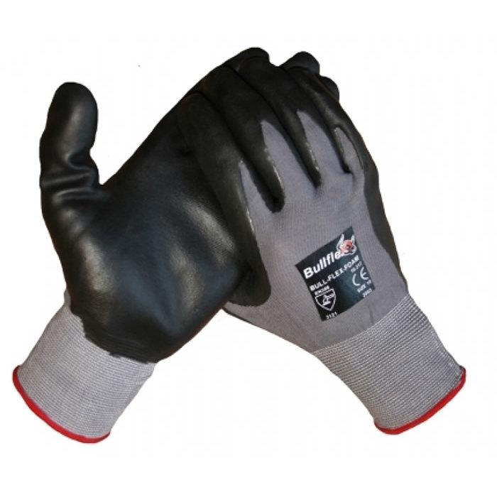 Bull Flex werkhandschoen met Foam Nitril coating op een polyamide onderhandschoen 10317