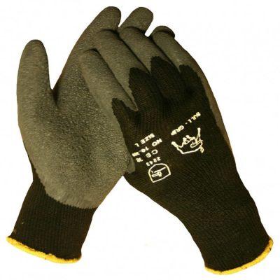 Bull Progrip Thermo werkhandschoen met zwarte latex antislip coating op een acryl gebreide onderhandschoen 10309