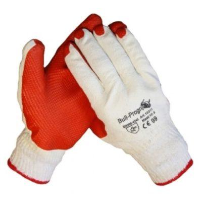 Bull Progrip oranje werkhandschoen met latex coating op een gebreide onderhandschoen 10311
