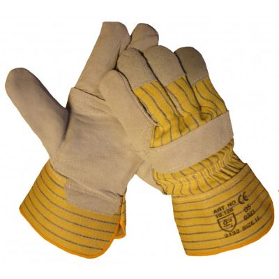 HSGH A kwaliteit splitlederen werkhandschoen met palmversterking 10126