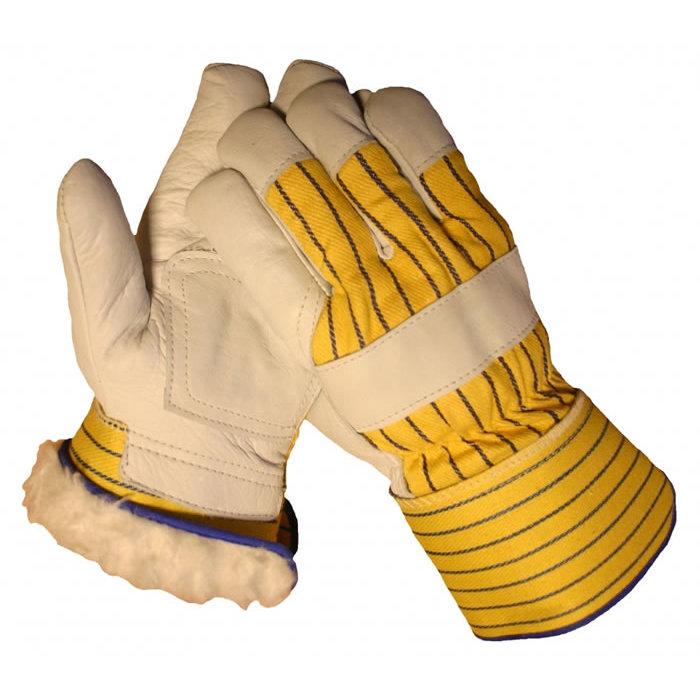 HSGH A- kwaliteit rund boxlederen werkhandschoen met warme boavoering