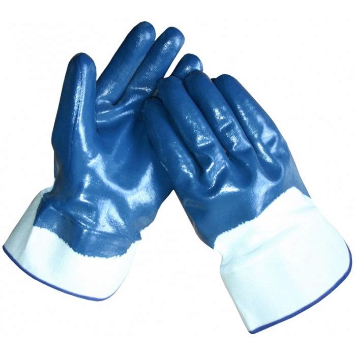HSGH Werkhandschoen met NBR coating en ventilerende rug op jersey voering met canvas kap 10247