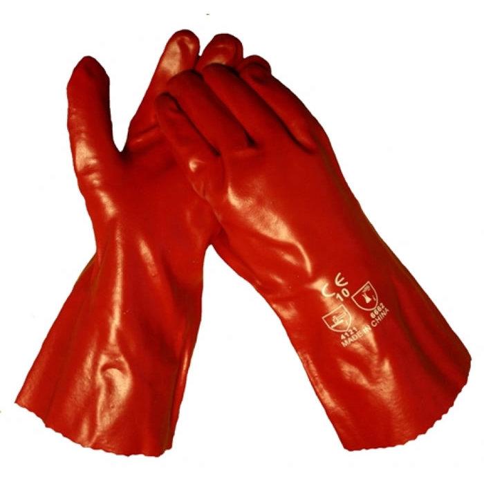 HSGH Rode PVC werkhandschoen lengte 35cm 10372