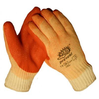 Prevent oranje werkhandschoen met latex coating op een gebreide onderhandschoen 10310